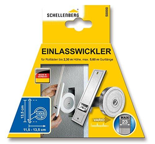 schellenberg gurtwickler unterputz 50001 maxi f r gurt f r rollladen breite 23 mm h he von. Black Bedroom Furniture Sets. Home Design Ideas