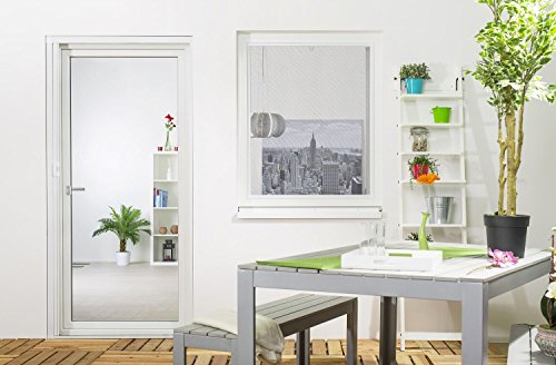 tectake insektenschutzrollo fliegengitter rollo aluminium 90x160cm reppilc. Black Bedroom Furniture Sets. Home Design Ideas