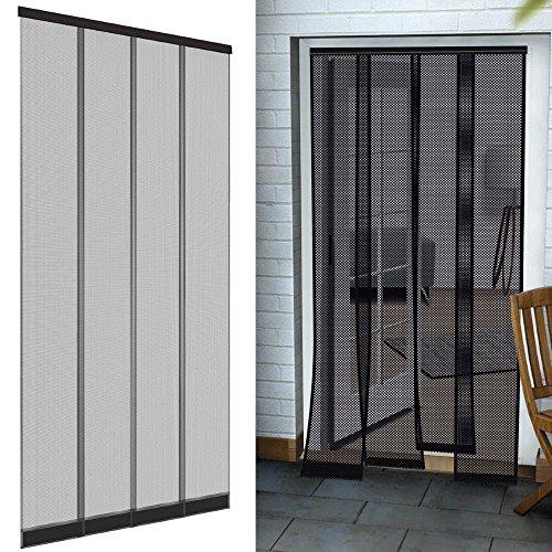 easy life insektenschutz t r vorhang 125 x 240 cm polyester anthrazit lamellenvorhang mit pvc. Black Bedroom Furniture Sets. Home Design Ideas