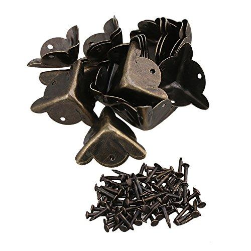 ounona eckenschutz metall vintage schutzecken dekorative schutz packung von 30 reppilc. Black Bedroom Furniture Sets. Home Design Ideas