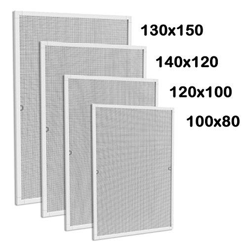 alu rahmen fenster fliegengitter insektenschutz fenster m ckengitter moskitonetz 110 x 130 cm. Black Bedroom Furniture Sets. Home Design Ideas