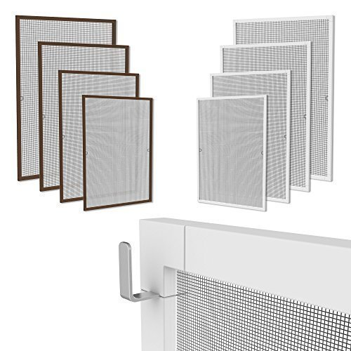fliegengitter f r fenster oder t r viele modelle w hlbar alu rahmen braun wei 80 120 90. Black Bedroom Furniture Sets. Home Design Ideas