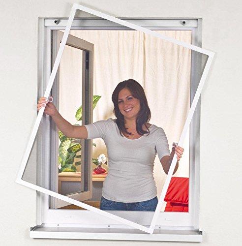 mako easy life 886005a insektenschutz fenstergitter alurahmen 120 x 140 cm wei reppilc. Black Bedroom Furniture Sets. Home Design Ideas