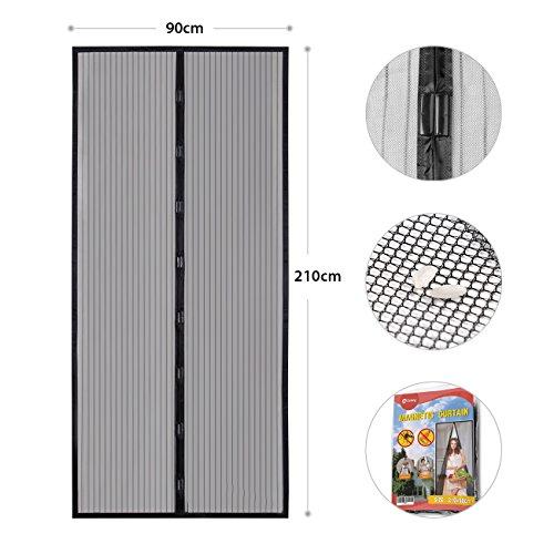 schwarzes moskitonetz zentrale ffnung mit magneten 240. Black Bedroom Furniture Sets. Home Design Ideas