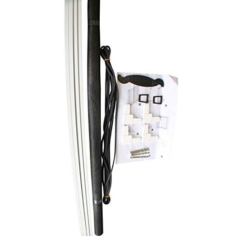 top multi insektenschutz gitter rahmen in wei 120 140 cm zum einh ngen fiberglas alu. Black Bedroom Furniture Sets. Home Design Ideas