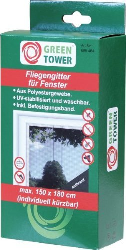 fliegengitter fenster 2 er set 150 180cm 120 120 zuschneidbar ohne bohren klebmontage. Black Bedroom Furniture Sets. Home Design Ideas