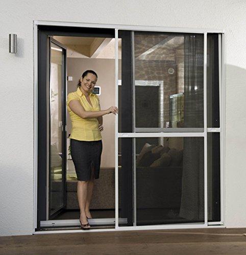 insektenschutz doppelschiebet r schiebet r fliegengitter 230 x 240 cm neu ovp reppilc. Black Bedroom Furniture Sets. Home Design Ideas