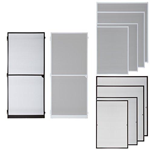 klemmfix fliegennetz fenster aluminium rahmen weiss gr e 100cm 120cm fliegengitter ohne bohren. Black Bedroom Furniture Sets. Home Design Ideas