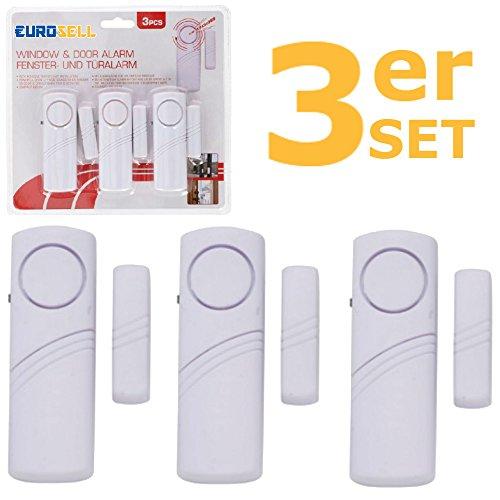 sp65 wei drahtloser t r fenster oder vitrinenalarm einsatz als alarmanlage einbruchsschutz. Black Bedroom Furniture Sets. Home Design Ideas