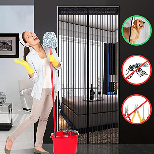 hiveseen magnet fliegengitter t r insektenschutz netz vor insekten wie fliegen und m cken. Black Bedroom Furniture Sets. Home Design Ideas