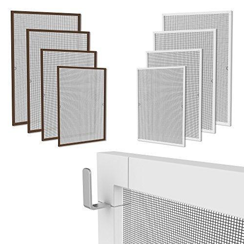 klemmfix fliegennetz fenster aluminium rahmen weiss gr e 120cm 140cm fliegengitter ohne bohren. Black Bedroom Furniture Sets. Home Design Ideas