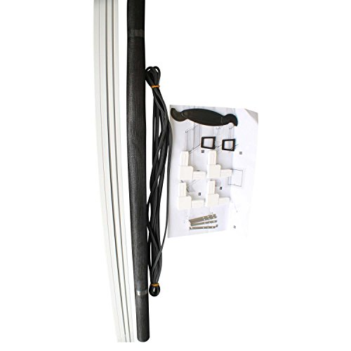 Top multi insektenschutz gitter rahmen in wei 130 150 cm zum einh ngen fiberglas alu - Gitter fur fenster ...