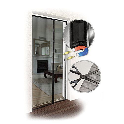 insektenschutz magnetvorhang fliegengitter mit magnetverschluss f r t ren bis 100 x 220 cm. Black Bedroom Furniture Sets. Home Design Ideas