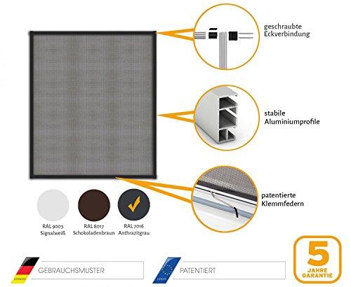 insektenschutz fliegengitter fenster alurahmen master slim wei braun oder anthrazit in. Black Bedroom Furniture Sets. Home Design Ideas