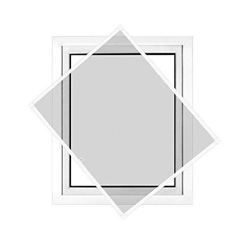 jarolift insektenschutz spannrahmen slimline f r fenster 80 x 150cm in wei reppilc. Black Bedroom Furniture Sets. Home Design Ideas