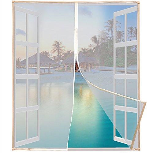 sycees fliegengitter fenster mit klettverschluss 1 3m x 1 5m mit doppel rei verschluss und. Black Bedroom Furniture Sets. Home Design Ideas