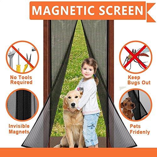 magnet fliegengitter t r insektenschutz 90 210 cm 100 210 cmf r t ren bis 86 x 208cm 96x208cm. Black Bedroom Furniture Sets. Home Design Ideas