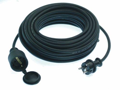 brennenstuhl qualit ts gummi verl ngerungskabel 25m ip44 kabel f r au en schwarz reppilc. Black Bedroom Furniture Sets. Home Design Ideas
