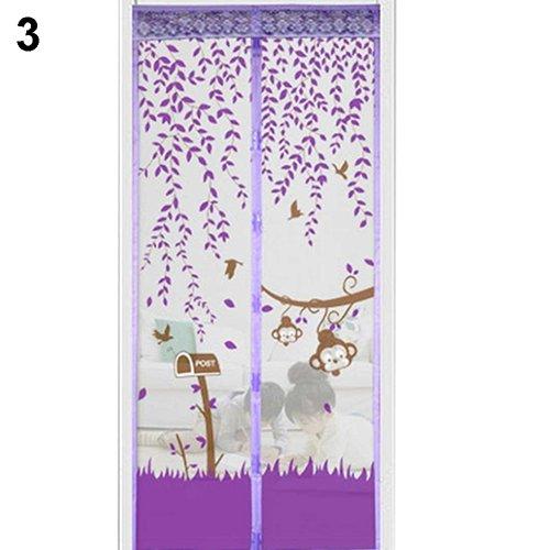 Sukisuki magnetisches fliegenschutzgitter f r t ren moskitonetz handfrei violett 100cm x - Fenster turen bauelemente busch duisburg ...